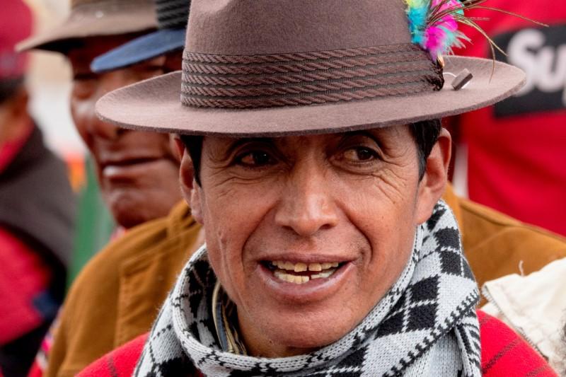 Lokale-man-Ecuador